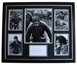 Fran Cotton Signed Framed Photo Autograph Huge Display England Rugby Coa