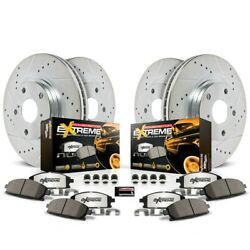 K2220-36 Powerstop 4-wheel Set Brake Disc And Pad Kits Front And Rear New For Jeep