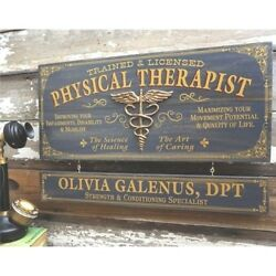 Physical Therapist Personalized Wood Sign With Nameboard