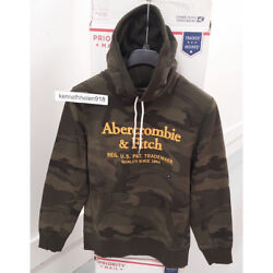 Abercrombie And Fitch Mens Heavyweight Embroidered Logo Hoodie Sweatshirts Sz M,l