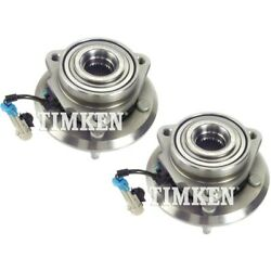 Set-tmha590262 Timken Set Of 2 Wheel Hubs Front Driver And Passenger Side New Pair