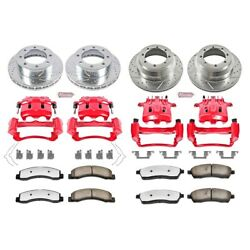Kc1907-36 Powerstop 4-wheel Set Brake Disc And Caliper Kits Front And Rear