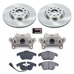Kcoe2963 Powerstop Brake Disc And Caliper Kits 2-wheel Set Front New For Vw