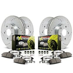 K1560-26 Powerstop Brake Disc And Pad Kits 4-wheel Set Front And Rear New For Xlr