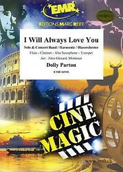 I Will Always Love You Trumpet Solo Concert Band Harmonie Music Set Score And Part