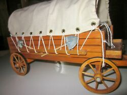 1- Wood Vintage Covered Wagon, Wood Horse Cart