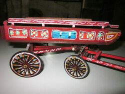 2- Wood Horse Carriage, Wood Vintage Covered Wagon,wood Horse Cart
