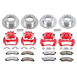 Kc1906a-36 Powerstop Brake Disc And Caliper Kits 4-wheel Set Front And Rear