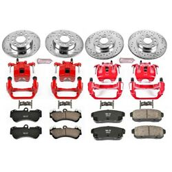 Kc4068a Powerstop Brake Disc And Caliper Kits 4-wheel Set Front And Rear For Vw