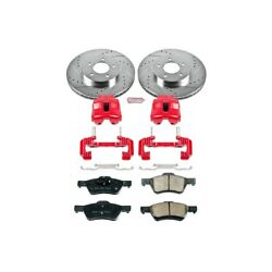 Kc5572 Powerstop Brake Disc And Caliper Kits 2-wheel Set Front For Ford Escape