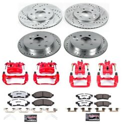 Kc4063-36 Powerstop 4-wheel Set Brake Disc And Caliper Kits Front And Rear