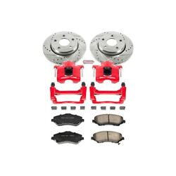 Kc3097 Powerstop Brake Disc And Caliper Kits 2-wheel Set Front For Jeep Wrangler