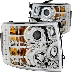 111199 Anzo Headlight Lamp Driver And Passenger Side New For Chevy Lh Rh Chevrolet