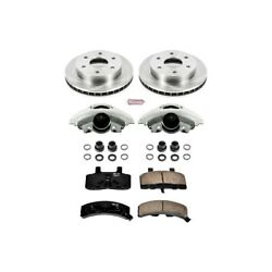 Kcoe1970 Powerstop 2-wheel Set Brake Disc And Caliper Kits Front For Chevy Tahoe