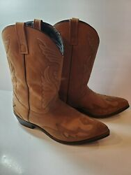 Extremely Nice Vintage Wrangler W.b. Masterson Special Edition Cowboy Boots 15d