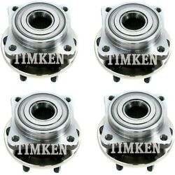 Set-tm513109-c Timken Set Of 4 Wheel Hubs Front And Rear Driver Passenger Side New