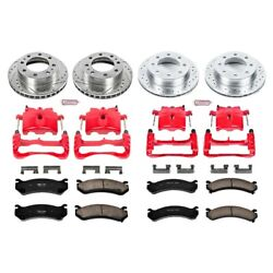 Kc4426 Powerstop 4-wheel Set Brake Disc And Caliper Kits Front And Rear For Chevy