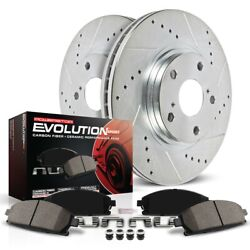 K5792 Powerstop 2-wheel Set Brake Disc And Pad Kits Front New For Mercedes Coupe