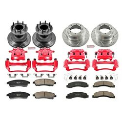Kc2868 Powerstop Brake Disc And Caliper Kits 4-wheel Set Front And Rear For Ford