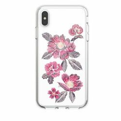 Lot Of 50 Speck Presidio Case Iphone Xs Max Embroidered Floral Fuschia Clear