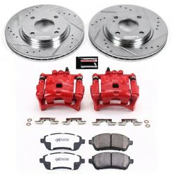 Kc5969-26 Powerstop Brake Disc And Caliper Kits 2-wheel Set Front New For Fiesta