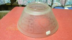Antique Etched And Wheel Cut Glass Gas Light Shade No. 512