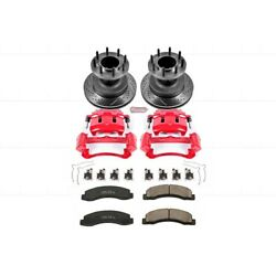 Kc2907 Powerstop Brake Disc And Caliper Kits 2-wheel Set Front For F350 Truck