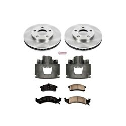 Kcoe1532 Powerstop Brake Disc And Caliper Kits 2-wheel Set Front For Chevy Olds