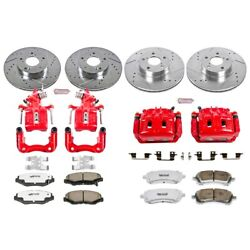 Kc1122-26 Powerstop Brake Disc And Caliper Kits 4-wheel Set Front And Rear