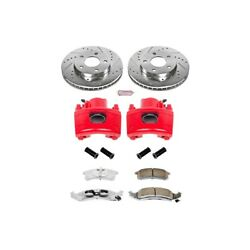 Kc1534-26 Powerstop 2-wheel Set Brake Disc And Caliper Kits Front For Chevy Olds