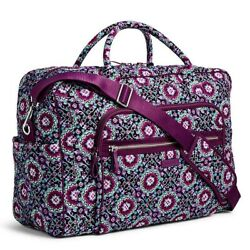 VERA BRADLEY~Iconic Weekender Travel Carry-On Bag Tote~LILAC MEDALLION~NWT! $118.90