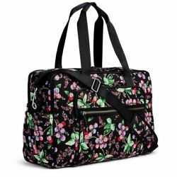 VERA BRADLEY~Iconic DELUXE Weekender Travel Carry-On Bag Tote~WINTER BERRY~NWT! $119.90