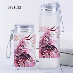 Anime Honkai Impact 3 Glass Bottle Travel Cup Transparent Tea Cup Outdoor Cos