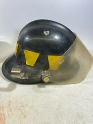 Cairns And Bro Fire Fighter Helmet Traditional Black Unknown Size / Model / Year