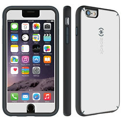 50-pack Speck Mightyshell Plus Faceplate Iphone6 6s Plus White Charcoal/grey
