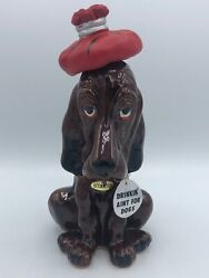 Enesco Vintage Drinkin Aint For Dogs Hangover Decanter Red Ice Bag