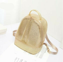 Women Backpack Jelly Glitter Backpack Candy Bag Sequins Silicone Shiny Bag new $24.97