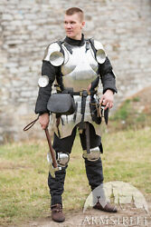 Medieval 16g Steel Body Armour Cuirass Knight Front Breastplate W/backpack Yz488