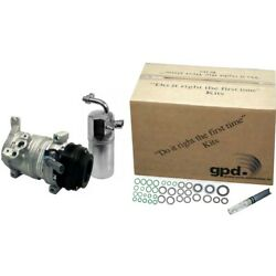 9633374 Gpd Kit A/c Ac Compressor New With Clutch For Ford Fusion Mercury Milan