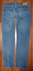 MENS LEVIS MADE & CRAFTED THUMBTACK SLIM FIT BUTTON FLY BLUE LABEL JEANS 34X32 $74.99