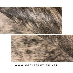 Cowhide Leather Sheets Tan Brindle Hair on Hide Cowhide Leather for bags $14.99