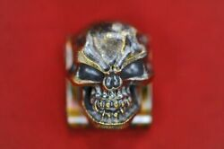Steel Flame Hardness Skull In Bronze Stainless Molle 2018 Blade Show Exclusive