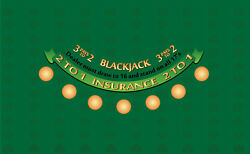 Professional Blackjack Set With Layout Dealing Shoe And Discard Holder