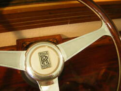 Rolls Royce Camargue Wood Steering Wheel 15 Ivory Horn Button New