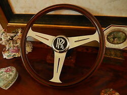 Rolls Royce Corniche Ii Wood Steering Wheel 15.3 Hooper Jankel London Nardi Nos