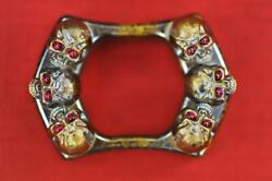Steel Flame Sledge Ring 6 Warrior Skulls W/red Eyes The Gathering G10 Lottery