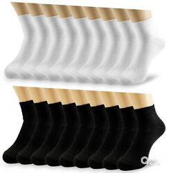 New Lot 6-12 Pairs Mens Womens Ankle Socks Cotton Low Cut Casual Size 9-11 10-13 $7.48