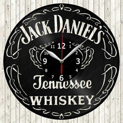 Jack Daniels Whiskey Vinyl Record Wall Clock Decor Handmade 7115