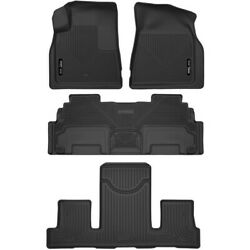 Set-h2153141 Husky Liners Floor Mats Front New Black For Chevy Gmc Acadia Buick