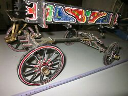 12- Wood Horse Carriage, Wood Vintage Covered Wagon,wood Horse Cart